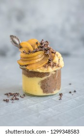 Mango Chocolate Nice Cream Pudding