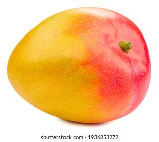 Mango clipping path. Mango fruit isolated on white background. High End Retouching