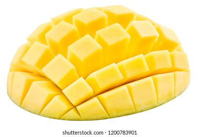 mango fruit isolated on white background Clipping Path