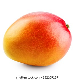 Mango fruit isolated on white background. Clipping Path
