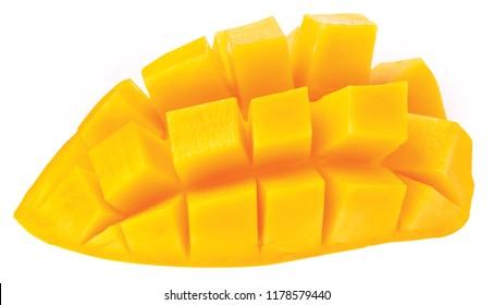 Mango isolated on white background.