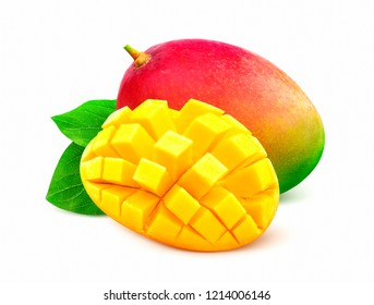 Mango isolated on white background with clipping path