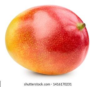 Mango isolated on white background. Mango Clipping Path. Best studio food photography