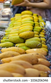mango on shelf  in fruit shop,Bangkok,Thailand