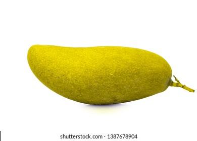 ัyellow mango on white background