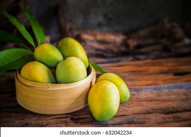 mango on a wooden table