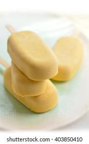 Mango Popsicles Ice Cream