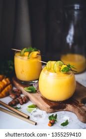 Mango and Turmeric Lassi Smoothie