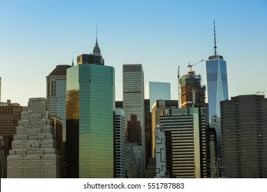 Manhattan with all his skyscrapers and hudson river