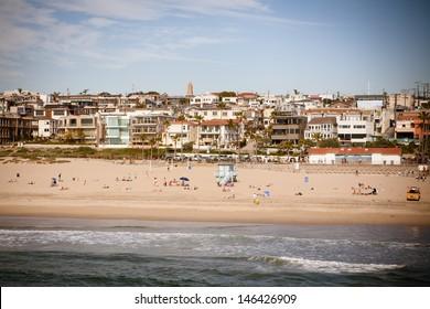 Manhattan Beach on a warm sunny day in Los Angeles, California, USA