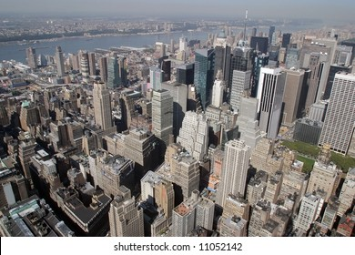Manhattan with a bird's eye view.