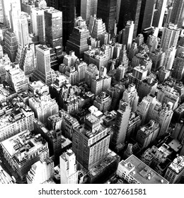 Manhattan in black and white