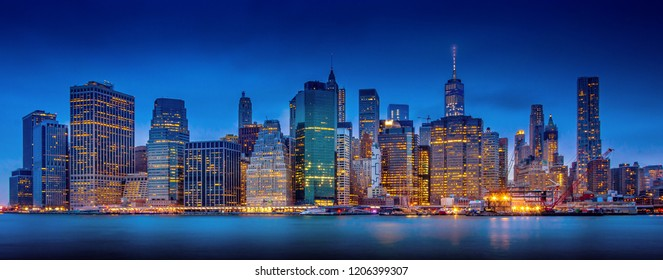 Manhattan in blue hours