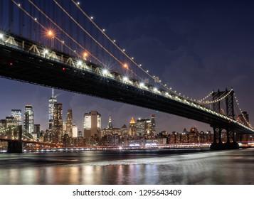 Manhattan Bridge from Dumbo, NYC, USA