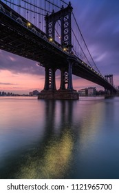 Manhattan bridge during sunrise