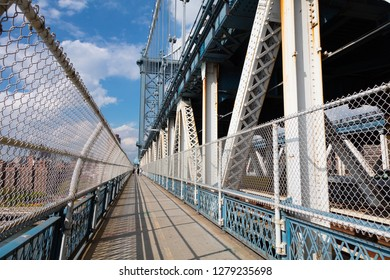 Manhattan Bridge Footpath in New York City