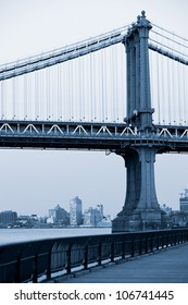 Manhattan bridge, New York City. USA.