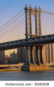 Manhattan Bridge over the Hudson in New York City