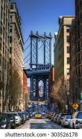 Manhattan Bridge as Seen from Brooklyn, New York