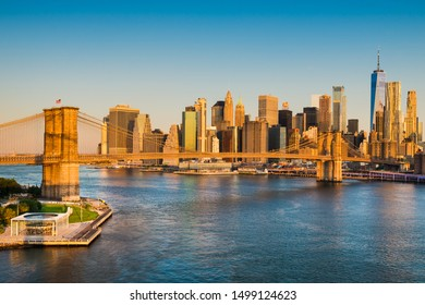 Manhattan and Brooklyn Bridge, New York City, USA