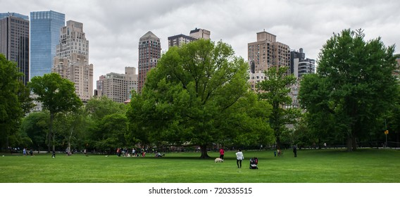Manhattan from Central Park, circa May 2015, New York, USA