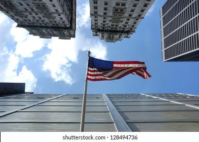 Manhattan city in New York United States America