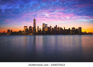 Manhattan city skyline, New york USA