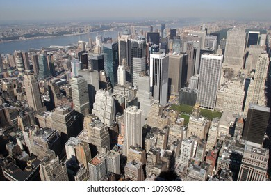 Manhattan from the height of bird flight.