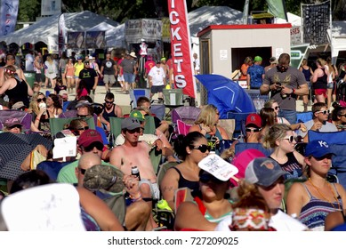 "Manhattan, Kansas, USA, 28th June, 2015Concert goers at the 20th annual ""Kicker Country Stampede"" in Manhattan,Kansas."