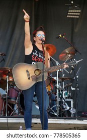 "Manhattan, Kansas USA, 28th June,   2015 Angleena Presly performs at the ""Kicker Country Stampede"" in Manhattan, Kansas."