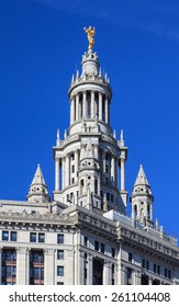 Manhattan Municipal Building:  The Manhattan Municipal Building in New York City.  The Municipal Building is one of the largest government office buildings in the world.