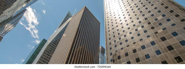 Manhattan, New York. City skyscrapers and skyline.