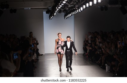 Manhattan, New York City/USA - September 11, 2018: Zang Toi SS19 Runway Fashion show at Pier 59 Studios Chelsea as part of the New York Fashion Week