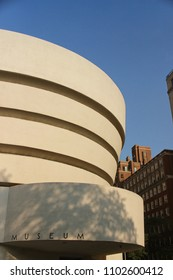 MANHATTAN, NEW YORK - June, 2014: Guggenheim Museum on a sunny day