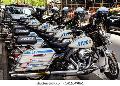 Manhattan, New York, May 18, 2019: 13th Annual New York City Dance Parade and Festival - NYPD on guard