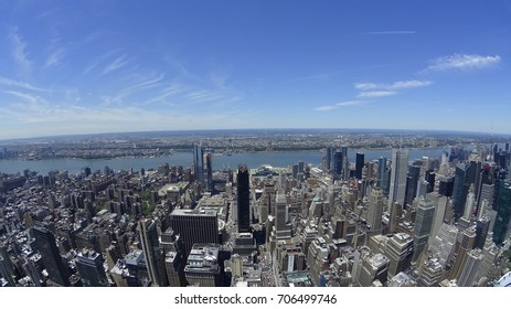 Manhattan, New York, USA - 06.03.2017: the view of the city from Empire State Building.
