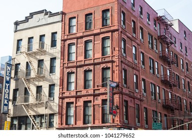 Manhattan, New York, USA, November 29 2012:  Traditional historic buildings in Manhattan, New York.