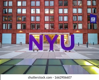 Manhattan, New York, USA - October 26, 2019  The New York University Leonard N. Stern School of Business is the business school of New York University located on NYU's Greenwich Village campus.