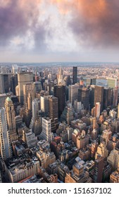 Manhattan, New York. Wonderful city skyline.