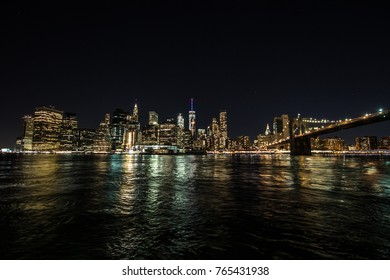 Manhattan Night Cityscape