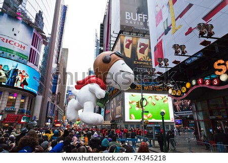 manhattan november 25 cartoon character balloon stock photo edit