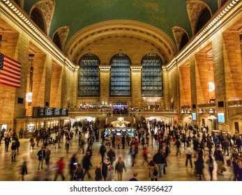 MANHATTAN, NY (10/31/2017) - Rush hour at Grand Central Terminal.