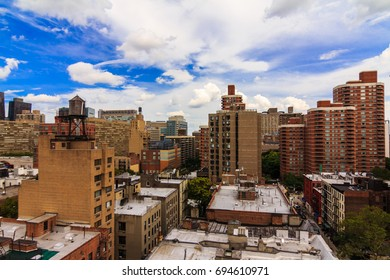 MANHATTAN, NY (August 8, 2017) - View of buildings in Midtown East, Murray Hill from a patio.