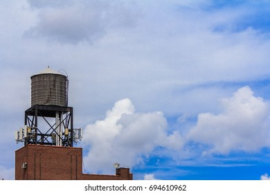 MANHATTAN, NY (August 8,2017) - Water tower in Midtown East, Murray Hill from a patio.