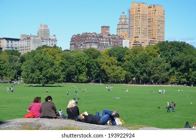 MANHATTAN, NY- SEPTEMBER 21: Central Park in New York, USA on September 21, 2013. One of the 5 boroughs of New York City, the smallest but also the most populated.