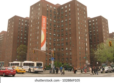 Manhattan, N.Y. USA. September 6, 2013. Stuyvesant Town & Peter Cooper Village from 1st. Avenue and 14th. Street.