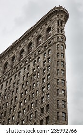 Manhattan, NYC - November 6: View of the Flat Iron building in Manhattan, NYC on November 6, 2014.