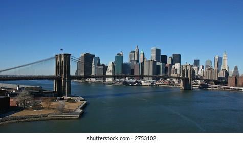 Manhattan panoramic- aerial view