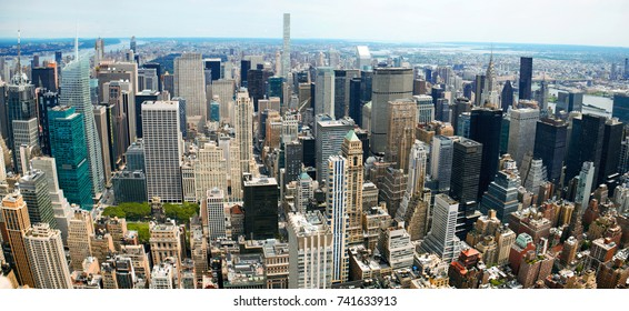 Manhattan Panoramic Aerial View