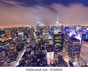 Manhattan scene at night